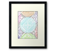 Square Circles Framed Print