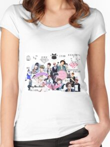 BTS/Bangtan Sonyeondan - Collage Women's Fitted Scoop T-Shirt
