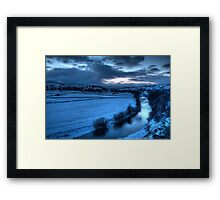 River Ure with Bainbridge  Framed Print