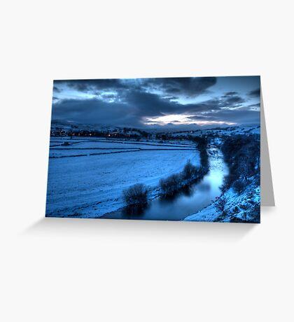 River Ure with Bainbridge  Greeting Card