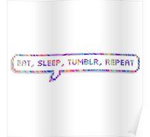 EAT SLEEP TUMBLR REPEAT Poster