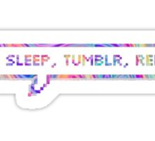 EAT SLEEP TUMBLR REPEAT Sticker