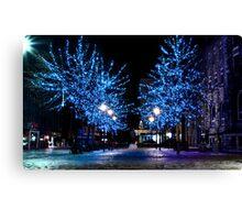 Trondheim by night Canvas Print