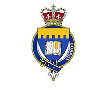 Coat of arms (family crest) for last-name or surname Conroy (Ireland) . Heraldry banner for your name. Photographic Print