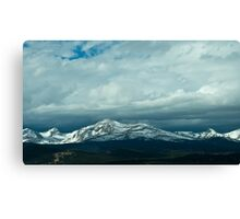 Snowy Indian Peaks in Colorado Canvas Print