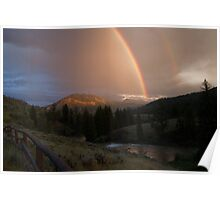 Double Rainbow over the Hoback River Poster