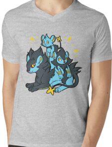 Pile of Electric Lions Mens V-Neck T-Shirt