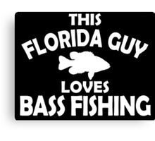 Florida Guy Loves Bass Fishing Canvas Print