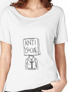 ANTI SOCIAL Women's Relaxed Fit T-Shirt