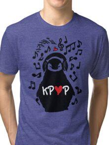 Penguin listen to kpop Tri-blend T-Shirt