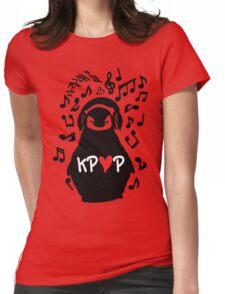 Penguin listen to kpop Womens Fitted T-Shirt