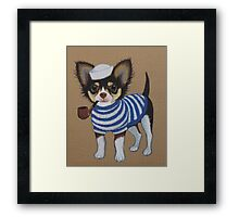 Sailor Chihuahua Framed Print