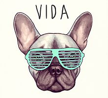 Livin' la vida Frenchie by PaperTigressArt