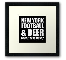 NewYork Football And Beer Framed Print