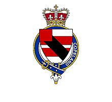 Coat of arms (family crest) for last-name or surname Copeland (England) . Heraldry banner for your name. Photographic Print