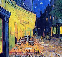 Vincent Van Gogh - Cafè Terrace at Night, Arles, France by lifetree