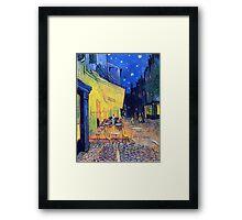 Vincent Van Gogh - Cafè Terrace at Night, Arles, France Framed Print