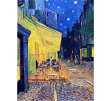Vincent Van Gogh - Cafè Terrace at Night, Arles, France Photographic Print