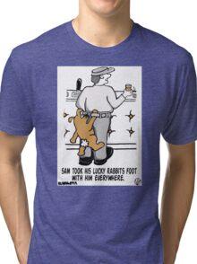 Lucky Rabbits Foot. Tri-blend T-Shirt