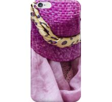 woman's hat iPhone Case/Skin