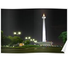 Towards Monas, Jakarta Poster
