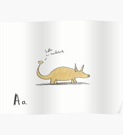 """""""Hello Mr Aardvark"""" Poster"""