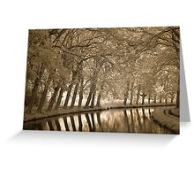 Bend in the Canal  Greeting Card