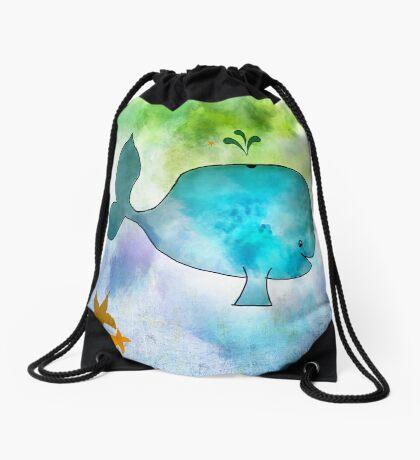 Ginkelmier Land ~ Whale Drawstring Bag
