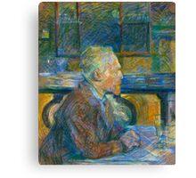Toulouse Lautrec - Portrait of Vincent Van Gogh Canvas Print