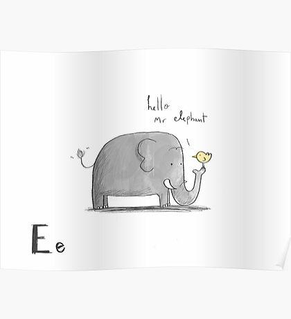 """Hello Mr Elephant"" Poster"
