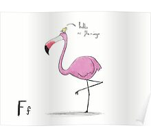"""Hello Mr Flamingo"" Poster"
