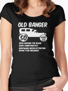 50th Fifty Mens Funny Age 50 Birthday Women's Fitted Scoop T-Shirt