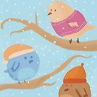 Three Birds by aileenswansen