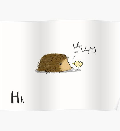 """Hello Mr Hedgehog"" Poster"