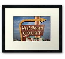 Route 66 - Rest Haven Motel Framed Print