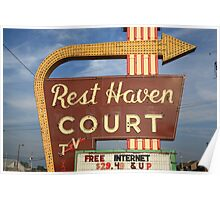 Route 66 - Rest Haven Motel Poster