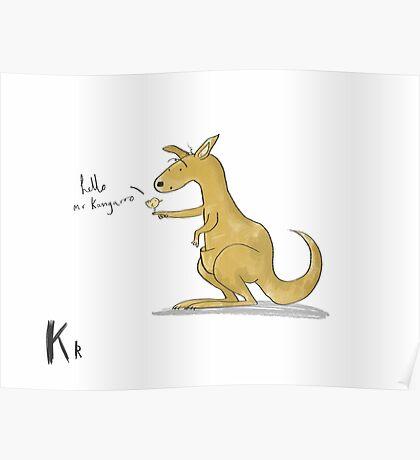 """Hello Mr Kangaroo"" Poster"