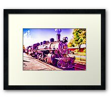 Saturated Steam Train Framed Print