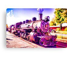 Saturated Steam Train Canvas Print