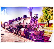 Saturated Steam Train Poster