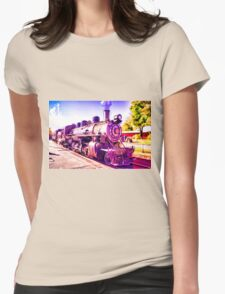 Saturated Steam Train Womens Fitted T-Shirt