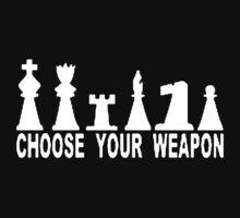Choose Weapon Chess Kids Tee
