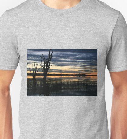 Early morning, Lake Bonney, Barmera,S.A. Unisex T-Shirt