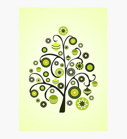 Green Ornaments Photographic Print