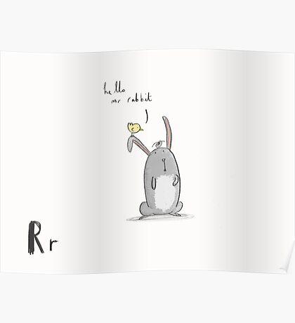 """Hello Mr Rabbit"" Poster"