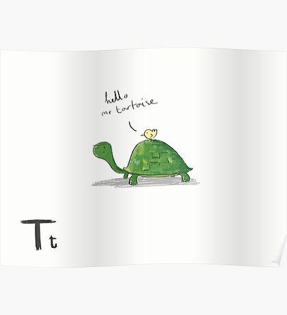 """Hello Mr Tortoise"" Poster"