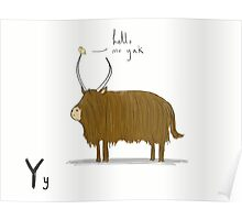 """Hello Mr Yak"" Poster"