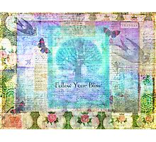 Follow Your Bliss Photographic Print