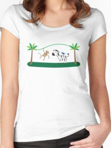Fun Jungle Animals 2 Women's Fitted Scoop T-Shirt