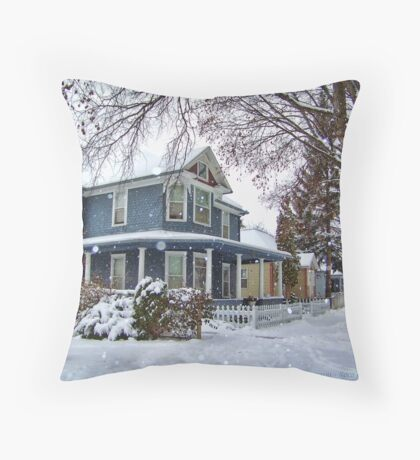 Snowstorm Throw Pillow